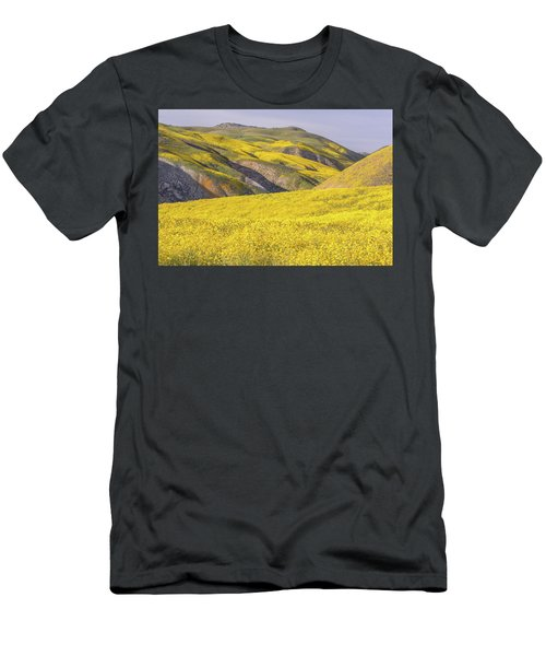 Men's T-Shirt (Slim Fit) featuring the photograph Colorful Hill And Golden Field by Marc Crumpler