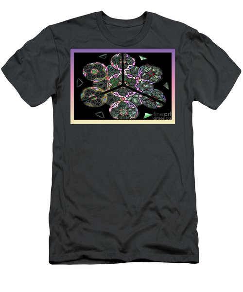 Colorful Rosette In Pink-lila Men's T-Shirt (Athletic Fit)