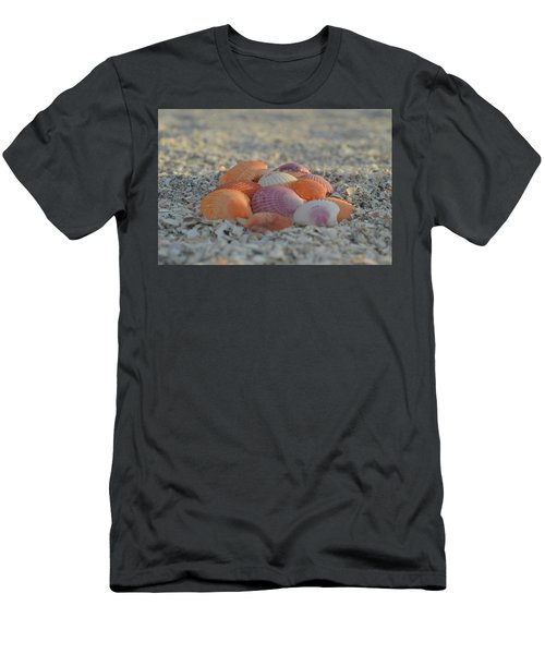 Colorful Scallop Shells Men's T-Shirt (Athletic Fit)