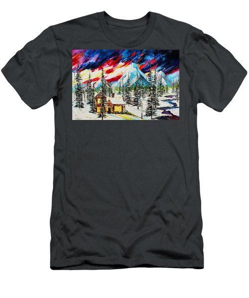 Colorful Sky Men's T-Shirt (Athletic Fit)