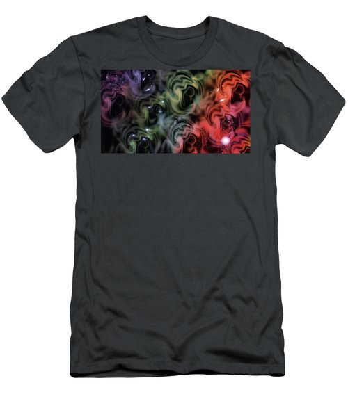 Colorful Swirls Men's T-Shirt (Athletic Fit)
