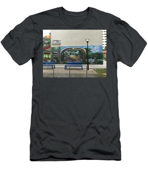 Coloring Holland V Wall 1 - Memories Men's T-Shirt (Slim Fit) by Belinda Low