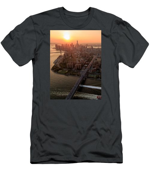 Men's T-Shirt (Slim Fit) featuring the photograph Colors Of Ny by Anthony Fields