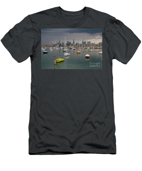 Colour Of Melbourne 2 Men's T-Shirt (Slim Fit) by Werner Padarin