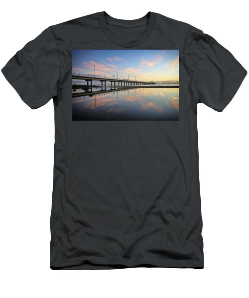Colourful Cloud Reflections At The Pier Men's T-Shirt (Athletic Fit)