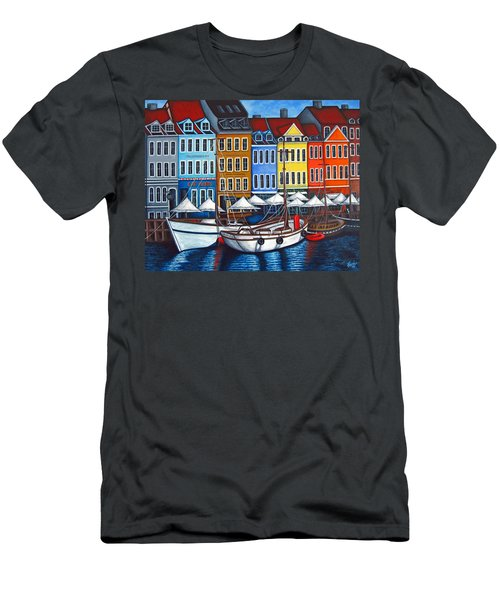 Colours Of Nyhavn Men's T-Shirt (Athletic Fit)