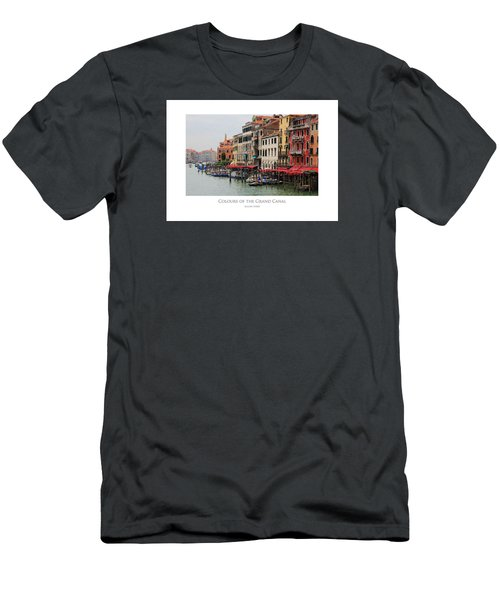 Men's T-Shirt (Athletic Fit) featuring the digital art Colours Of The Grand Canal by Julian Perry