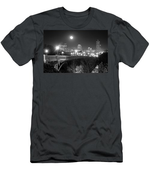 Columbia Skyline At Night Men's T-Shirt (Athletic Fit)