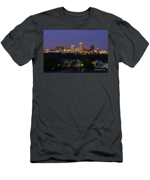 Columbia Skyline At Twilight Men's T-Shirt (Athletic Fit)