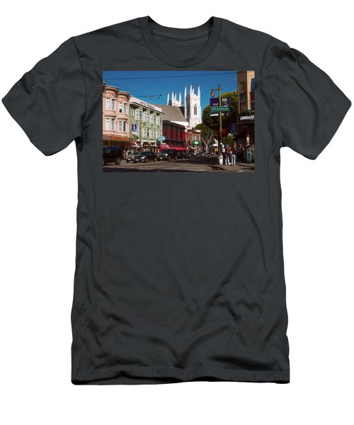 Columbus And Stockton In North Beach Men's T-Shirt (Athletic Fit)