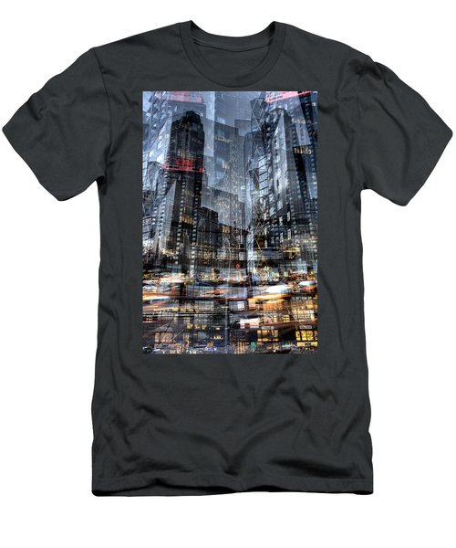 Columbus Circle Collage 1 Men's T-Shirt (Athletic Fit)