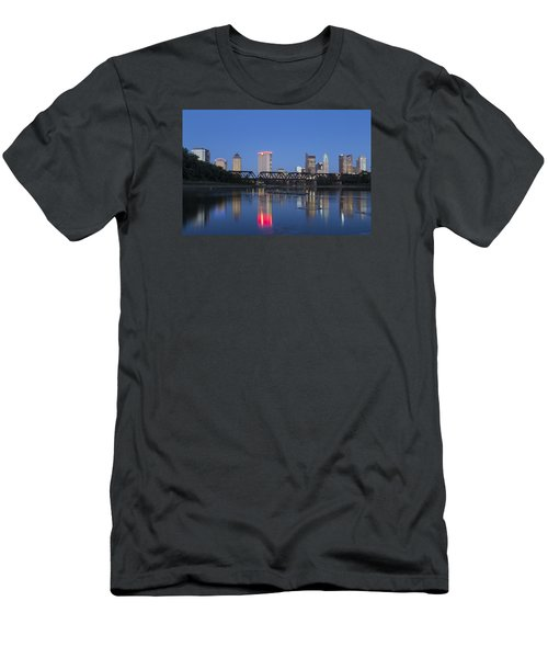 Men's T-Shirt (Slim Fit) featuring the photograph Columbus Evening Sky by Alan Raasch