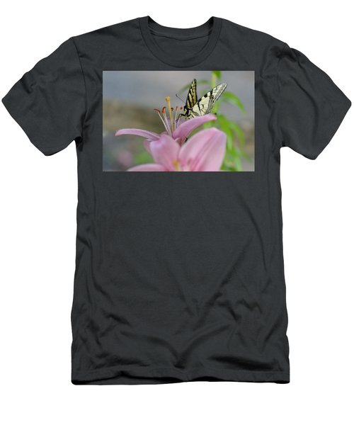 Coming In Men's T-Shirt (Slim Fit) by Janet Rockburn