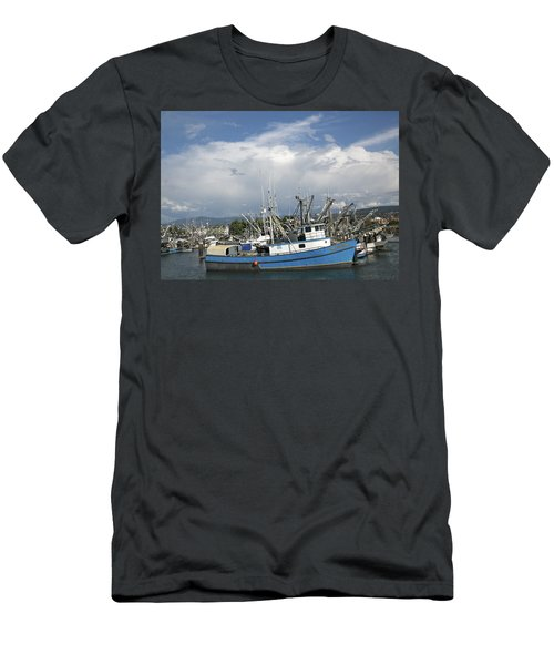 Men's T-Shirt (Slim Fit) featuring the photograph Commerical Fishing Boats by Elvira Butler