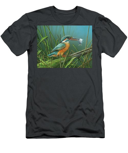 Common Kingfisher Men's T-Shirt (Slim Fit) by Mike Brown
