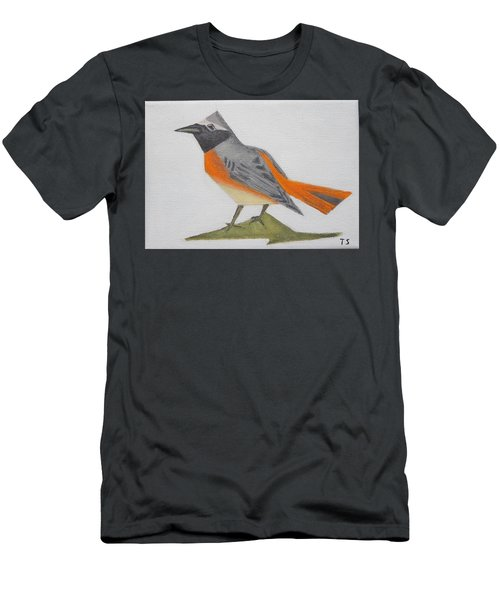 Common Redstart Men's T-Shirt (Slim Fit) by Tamara Savchenko