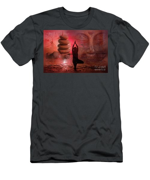 Men's T-Shirt (Athletic Fit) featuring the digital art Commune 2017 by Kathryn Strick