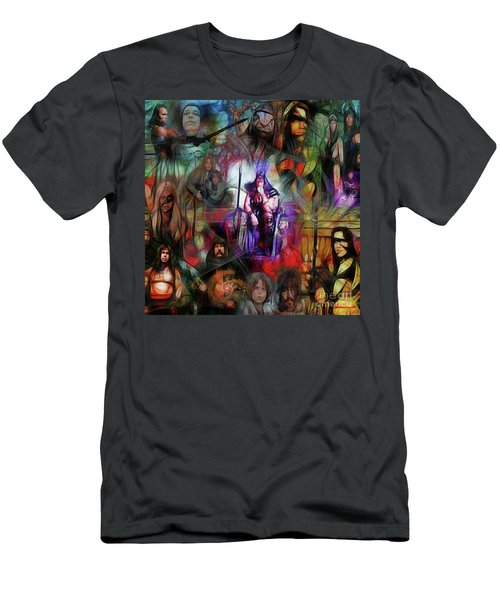 Conan The Barbarian Collage - Square Version Men's T-Shirt (Athletic Fit)