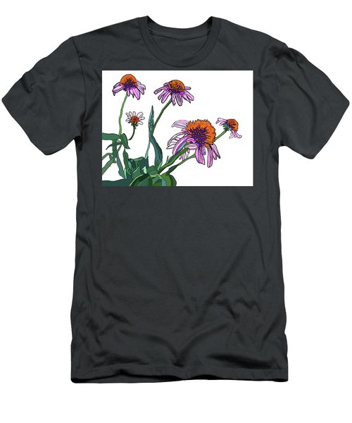 Cone Flowers Men's T-Shirt (Slim Fit) by Jamie Downs