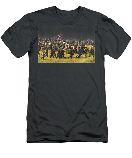 Confederate Charge At Gettysburg Men's T-Shirt (Athletic Fit)