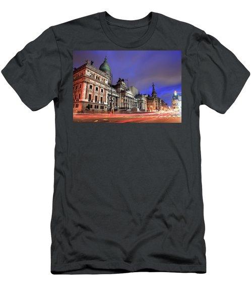 Men's T-Shirt (Slim Fit) featuring the photograph Congress  by Bernardo Galmarini