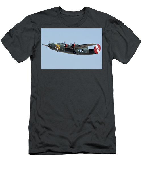 Consolidated B-24j Liberator N224j Witchcraft Phoenix-mesa Gateway Airport Arizona April 15 2016 Men's T-Shirt (Slim Fit) by Brian Lockett