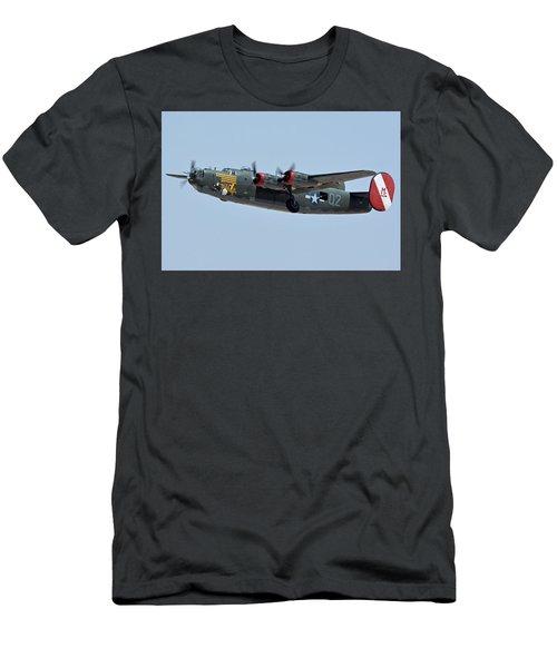 Consolidated B-24j Liberator N224j Witchcraft Phoenix-mesa Gateway Airport Arizona April 15 2016 Men's T-Shirt (Athletic Fit)