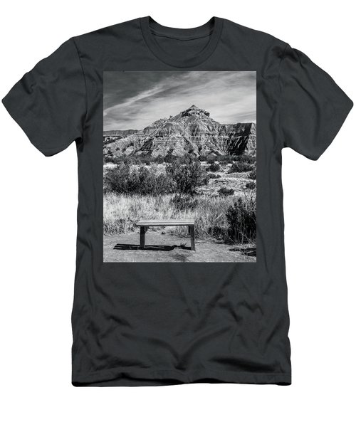 Contemplation Bench Bw Men's T-Shirt (Athletic Fit)