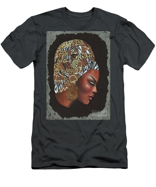 Men's T-Shirt (Slim Fit) featuring the mixed media Contemplation Too by Alga Washington