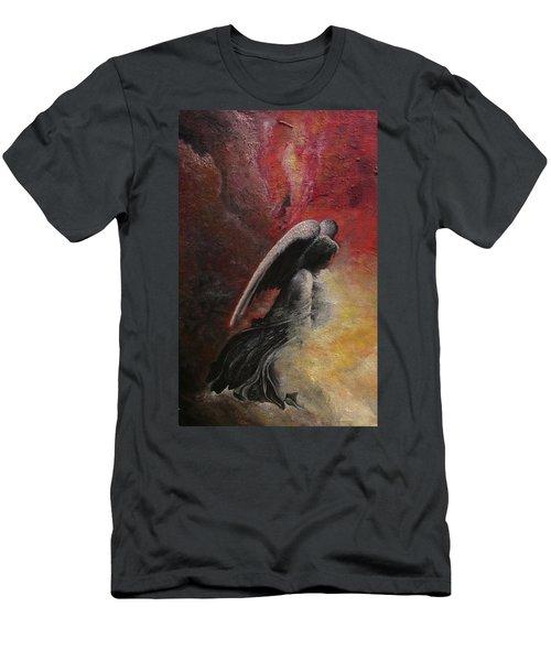 Contemplative Angel Men's T-Shirt (Athletic Fit)