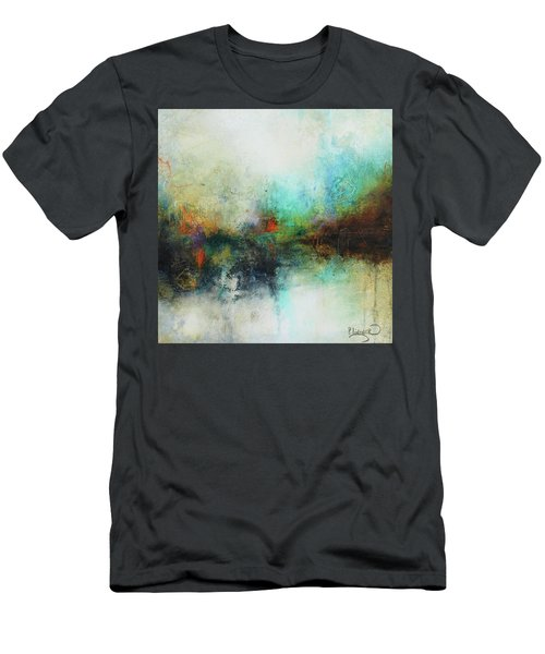 Contemporary Abstract Art Painting Men's T-Shirt (Slim Fit) by Patricia Lintner