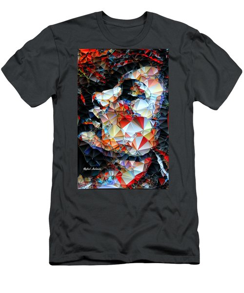 Men's T-Shirt (Athletic Fit) featuring the digital art Content by Rafael Salazar