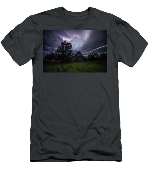 Men's T-Shirt (Athletic Fit) featuring the photograph Convergence  by Aaron J Groen