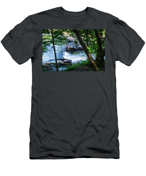 Cool Mountain Stream Men's T-Shirt (Athletic Fit)
