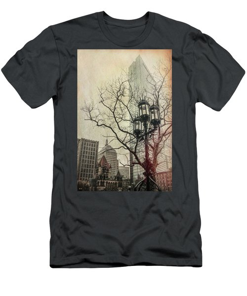 Men's T-Shirt (Slim Fit) featuring the photograph Copley Square - Boston by Joann Vitali