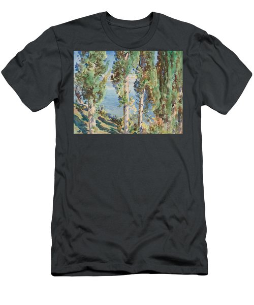 Corfu Cypresses Men's T-Shirt (Athletic Fit)