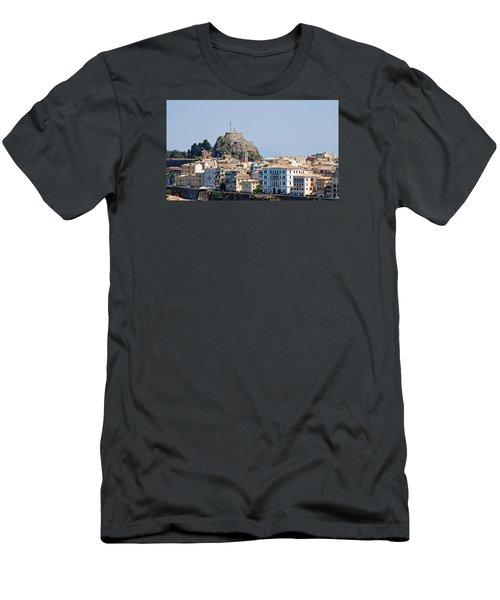 Corfu Old Fortress Men's T-Shirt (Slim Fit) by Robert Moss