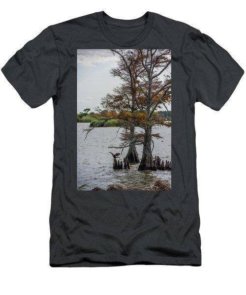 Men's T-Shirt (Slim Fit) featuring the photograph Cormorant by Paul Freidlund