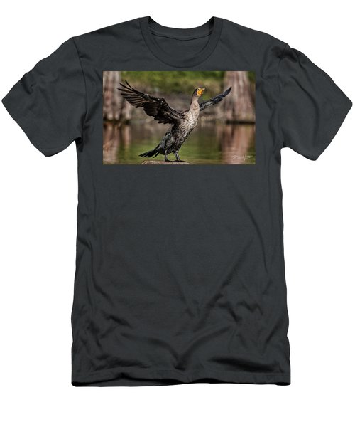 Cormorant Shaking Off Water Men's T-Shirt (Athletic Fit)