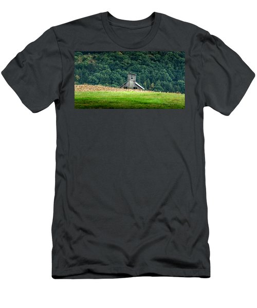 Men's T-Shirt (Slim Fit) featuring the photograph Corn Field Silo by Marvin Spates