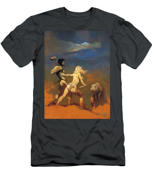 Cornered Men's T-Shirt (Slim Fit) by Frank Frazetta