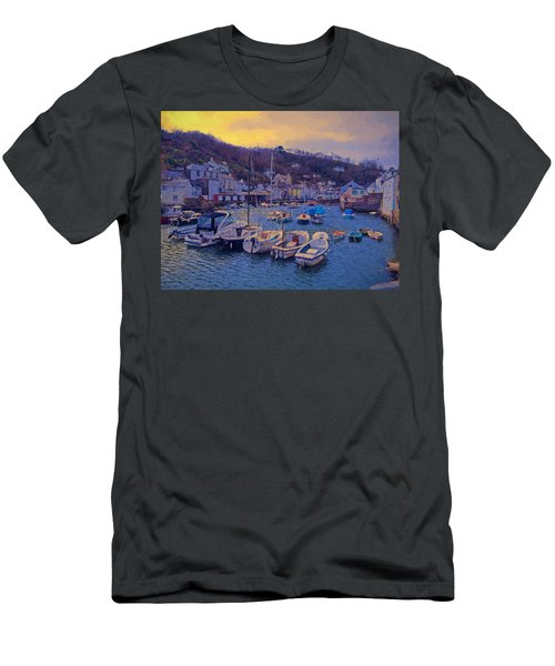 Men's T-Shirt (Slim Fit) featuring the photograph Cornish Fishing Village by Paul Gulliver