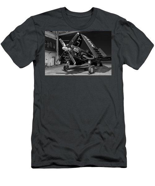 Corsair In The Hangar Men's T-Shirt (Athletic Fit)