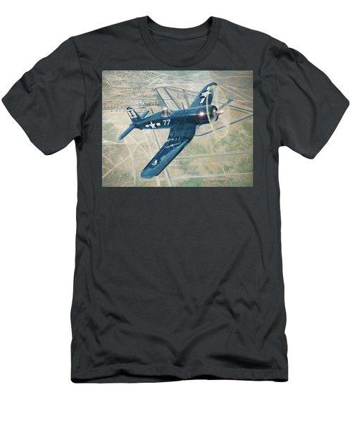 Corsair Over Mojave Men's T-Shirt (Slim Fit) by Douglas Castleman