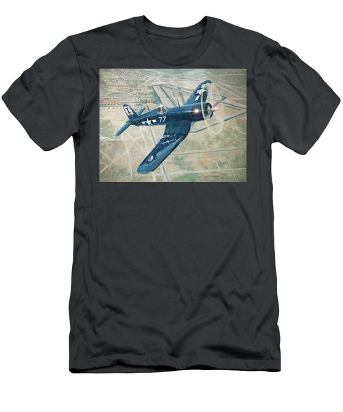 Corsair Over Mojave Men's T-Shirt (Athletic Fit)