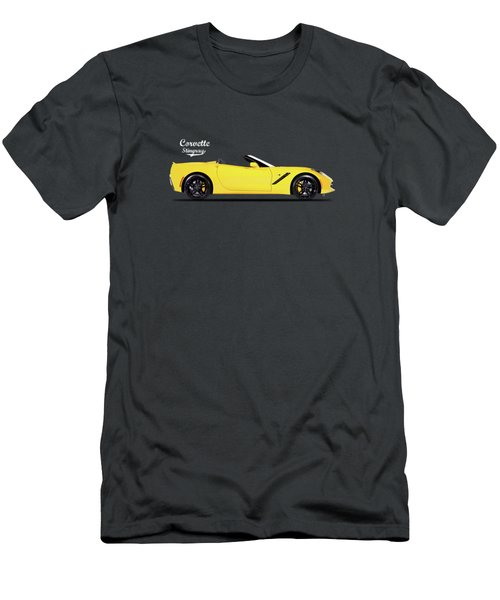 Corvette In Yellow Men's T-Shirt (Athletic Fit)