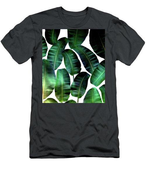 Cosmic Banana Leaves Men's T-Shirt (Athletic Fit)