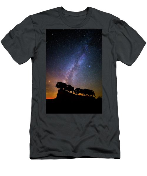 Men's T-Shirt (Slim Fit) featuring the photograph Cosmic Caprock Bison by Stephen Stookey
