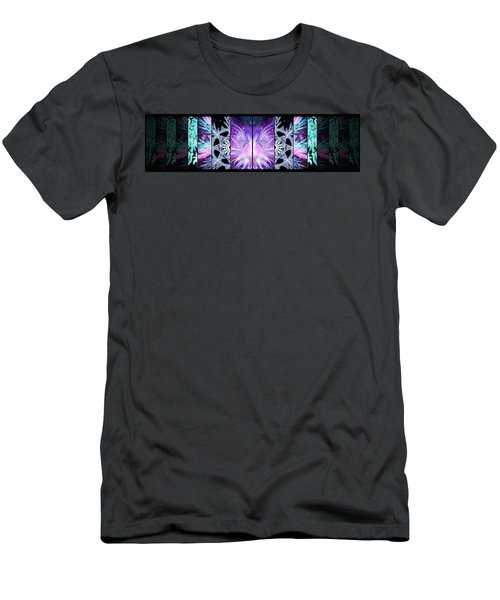Men's T-Shirt (Athletic Fit) featuring the mixed media Cosmic Collage Mosaic Left Mirrored by Shawn Dall