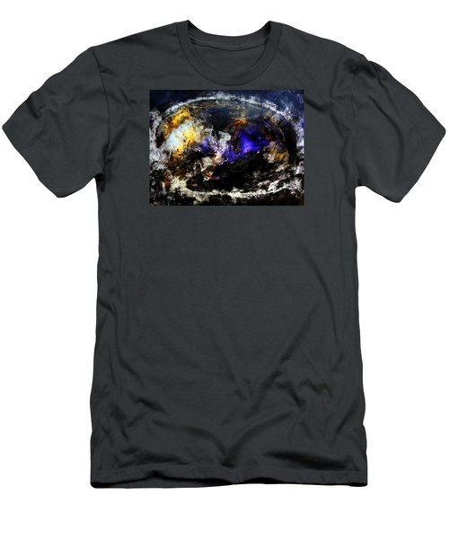 Cosmic Dream  45x60 Prints Modern Paintings Abstract Art Original Men's T-Shirt (Athletic Fit)